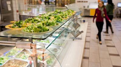 Bowls of prepared salad.