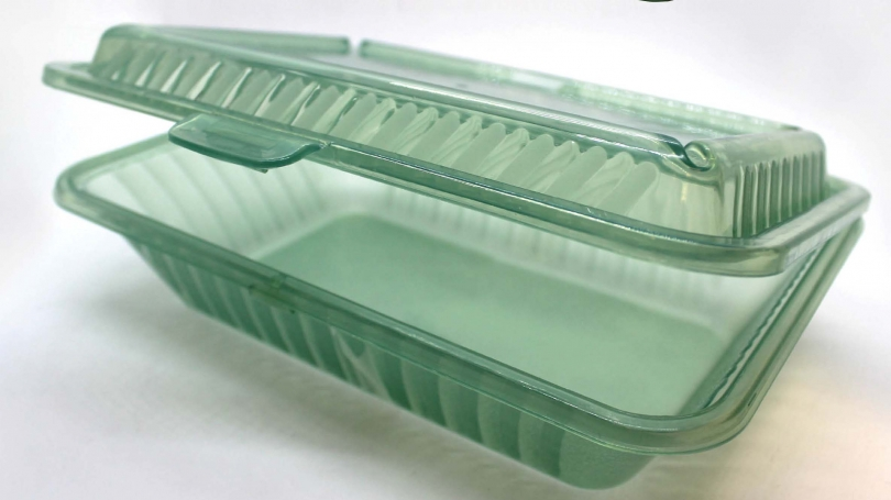 Recyclable takeout container.